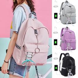 Portablet Backpack Girls' School Bag for Girl USB Charge Tra