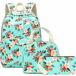 BLUBOON School Backpack Set Girls Bookbags 15 inches Laptop