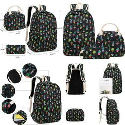 Bluboon School Backpack Set Teen Girls Bookbags Laptop Backp