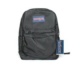 JanSport Super Break Black Bagpack JS00T501008 Nwt