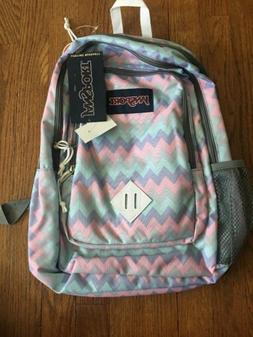 Jansport SUPERBREAK Backpack Pastel Chevron **NEW with Tags*