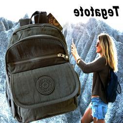 Tegatote School Backpack Teen Girls Women Backpacks Nylon Ba