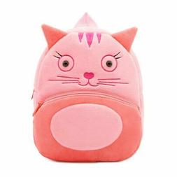 Toddler Kids Backpacks Cute Pink Soft Plush Little Girls Boy