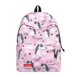 Unicorn Backpack Cartoon Unicorn School Bag For Children Tra