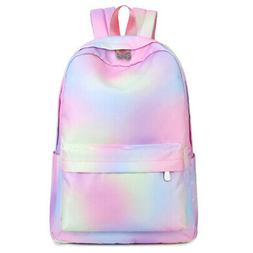 Waterproof Women Backpack Bling School Bag Bookbag Travel Ba