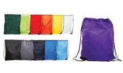 Wholesale coloured drawstring rucksack bag PE bagpack swim g