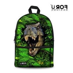 Wolf Backpack Girls Bagpack Kids Canvas School Shoulder Book