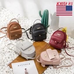 Women Girls Mini Backpack PU Leather Rucksack School Bagpack