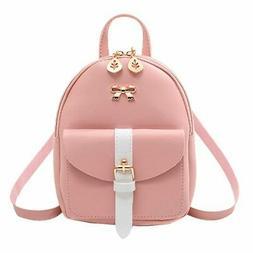 Women's Mini Backpack Luxury PU Leather Kawaii Backpack Cute