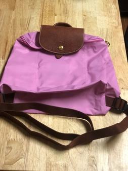 Womens longchamp le pliage bagpack pink nylon one size Brand