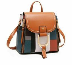 Womens Multifuntional Bagpacks Girls Teens Plaid School Bags