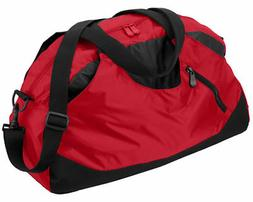 zippered front pocket bottom duffle gym bag